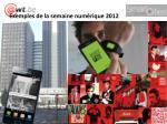 exemples de la semaine num rique 2012