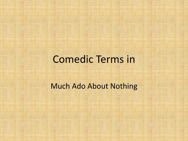 comedic terms in