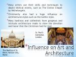 influence on art and architecture