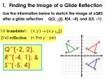 1 finding the image of a glide reflection