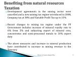 benefiting from natural resources t axation
