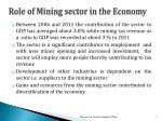 role of mining sector in the economy
