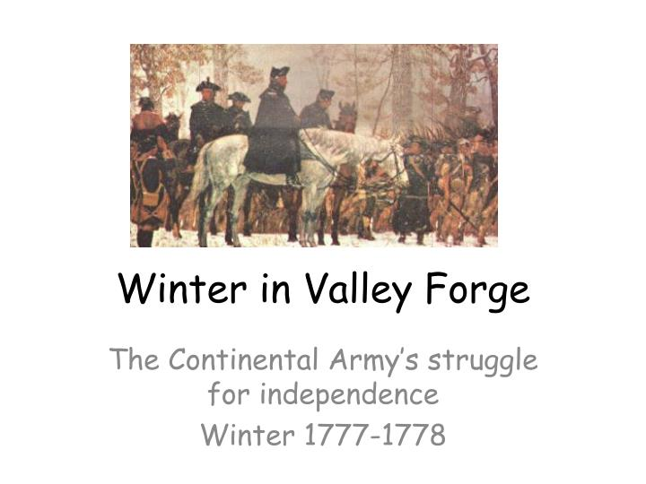 winter in valley forge n.