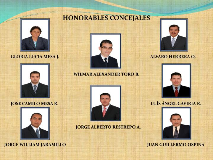 HONORABLES CONCEJALES