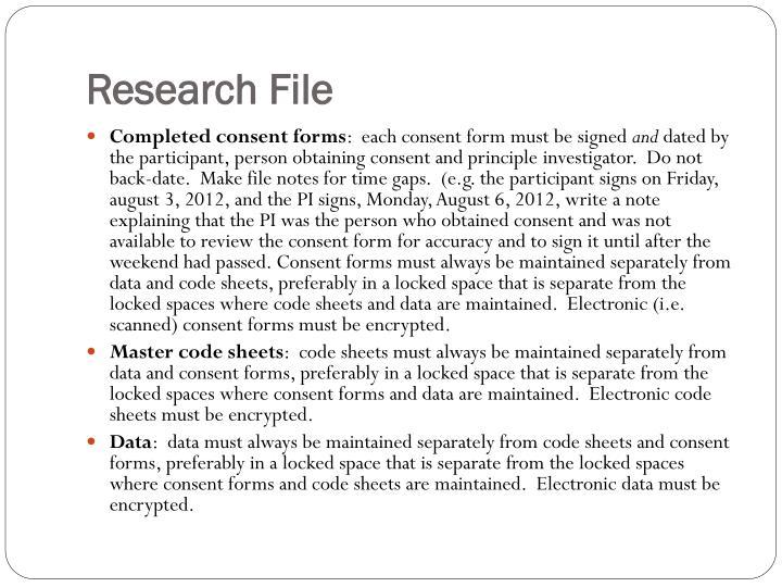 Research File