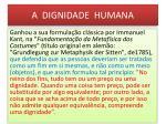 a dignidade humana1