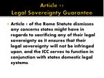 article 1 legal sovereignty guarantee