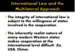 international law and the multilateral approach
