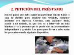 2 petici n del pr stamo