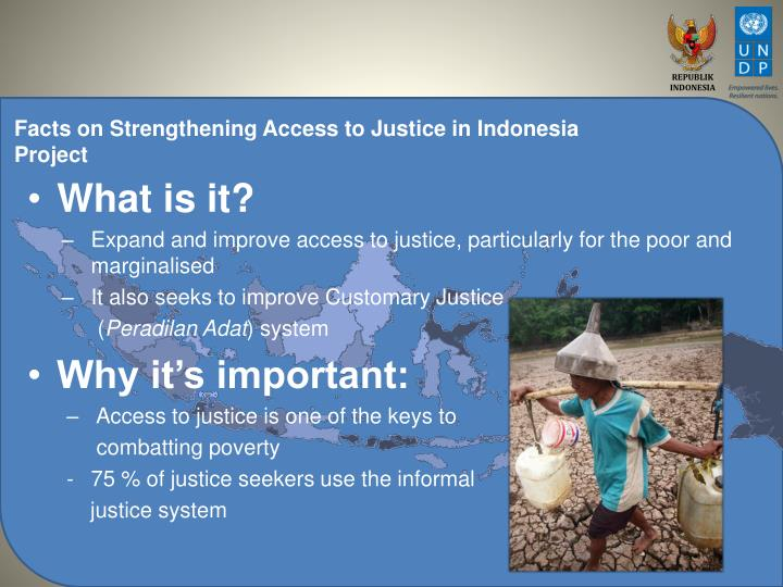 impediments to justice access Everyone has a right to justice but do they get it read on to discover how better access to justice brings prosperity and stability.