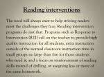 reading interventions