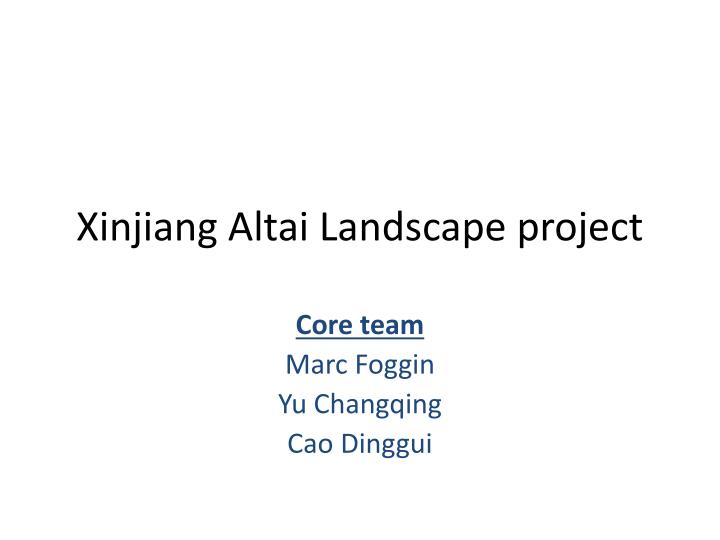 xinjiang altai landscape project n.