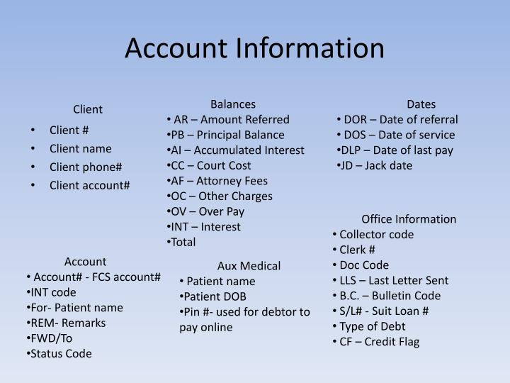 Account Information