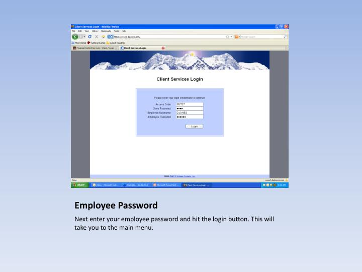 Employee Password