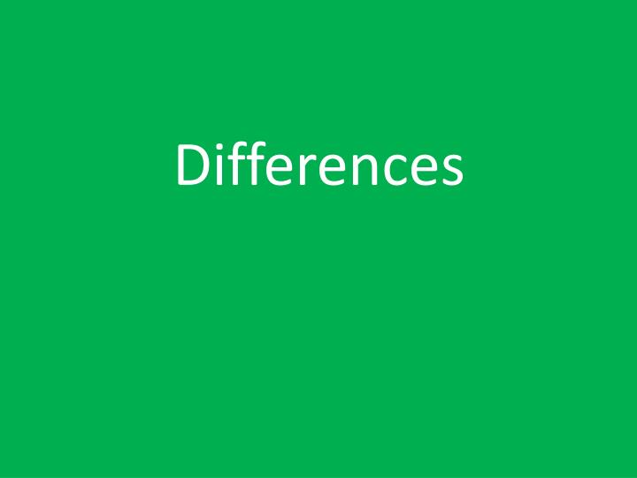 differences n.