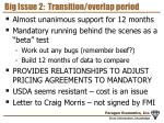 big issue 2 transition overlap period
