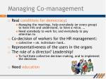 managing co management