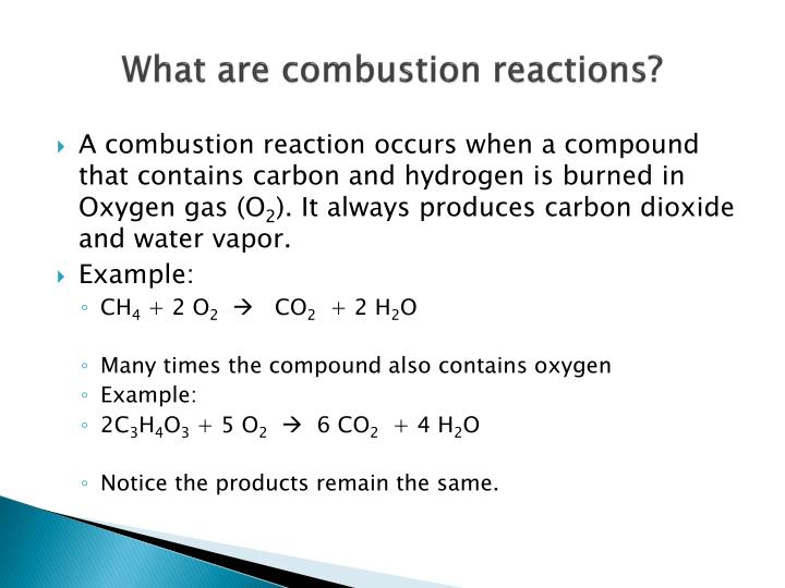 Ppt Combustion Reactions Powerpoint Presentation Id2262802