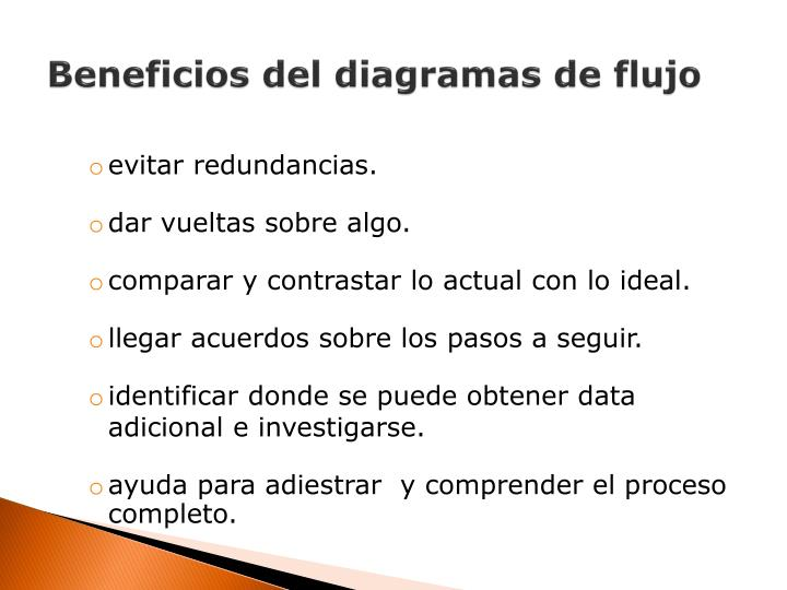 Beneficios del diagramas de flujo