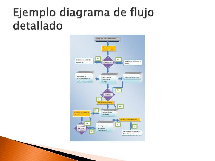 Ejemplo diagrama de flujo detallado