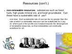 resources con t