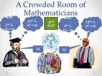 a crowded room of mathematicians
