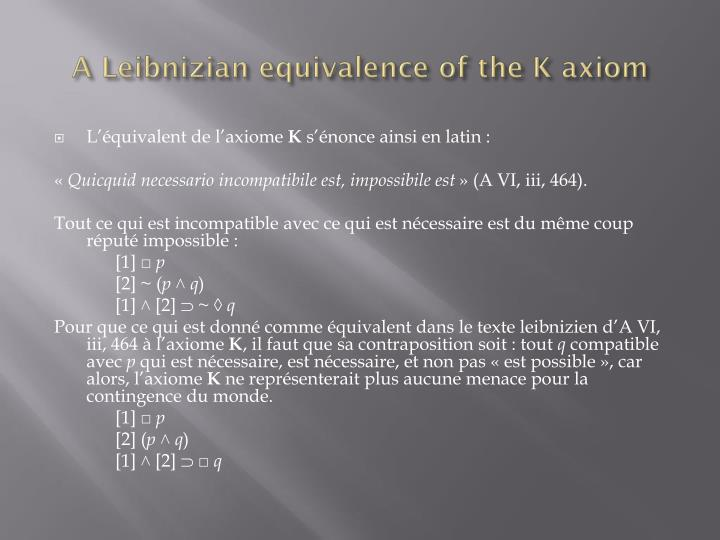 A Leibnizian