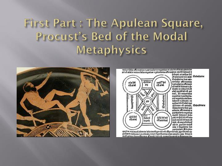 First part the apulean square procust s bed of the modal metaphysics