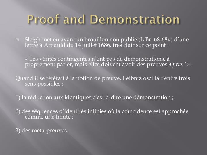 Proof and Demonstration