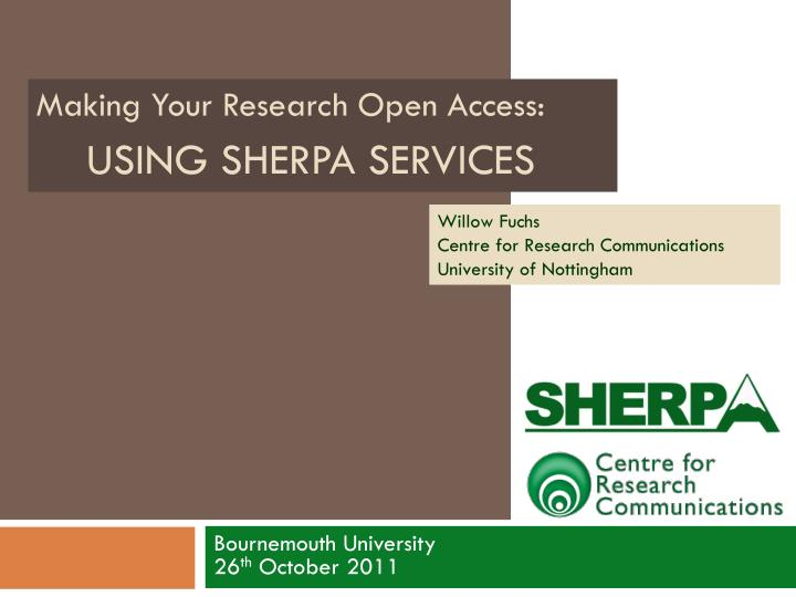 using sherpa services n.