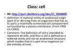class cell