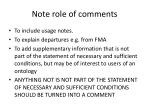 note role of comments
