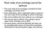 root node of an ontology cannot be defined