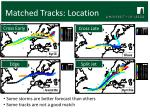 matched tracks location