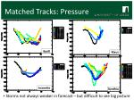 matched tracks pressure