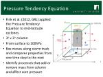 pressure tendency equation