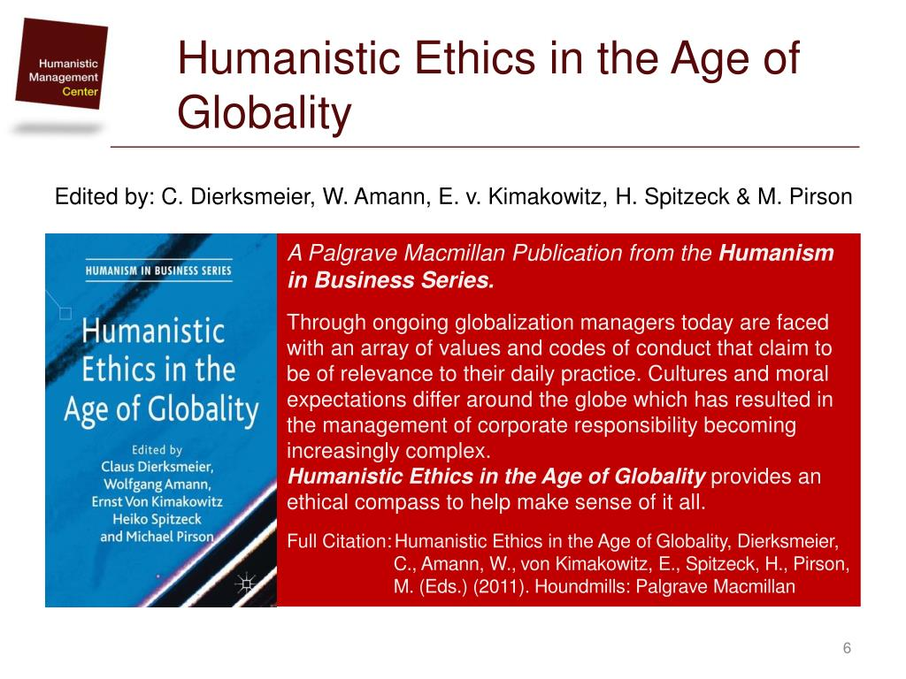 Humanism in Business Series