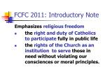 fcfc 2011 introductory note1