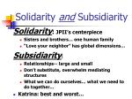 solidarity and subsidiarity