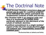 the doctrinal note