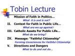 tobin lecture