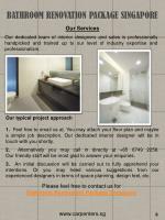 bathroom renovation package singapore