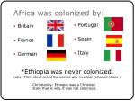 africa was colonized by