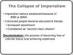 the collapse of imperialism