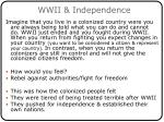 wwii independence