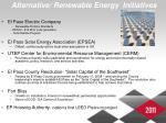 alternative renewable energy initiatives