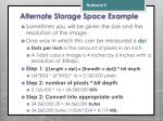 alternate storage space example