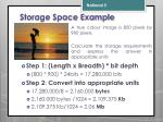 storage space example