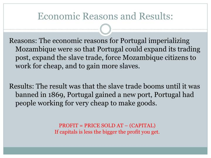 Economic Reasons and Results: