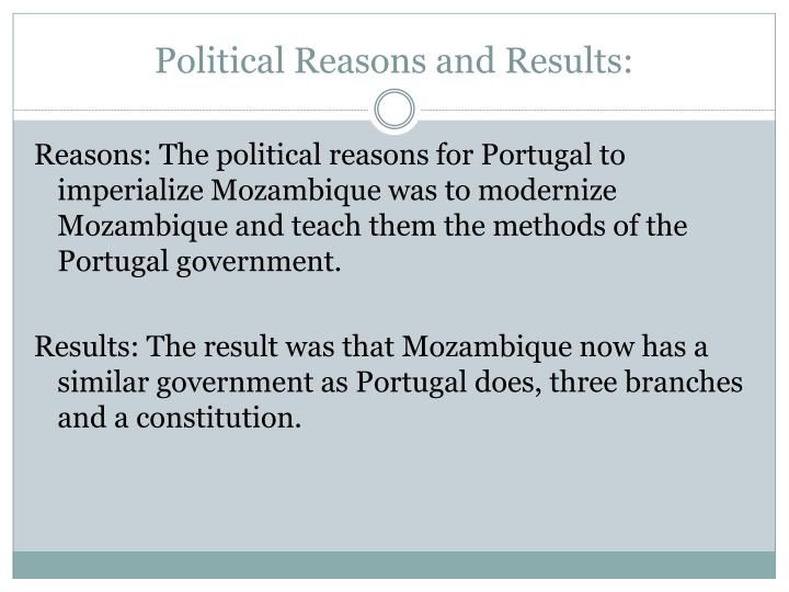 Political Reasons and Results: